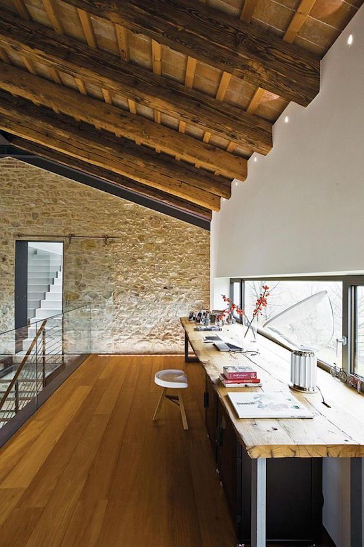 Industrial Loft Design With Natural Rough Wood Elements ...