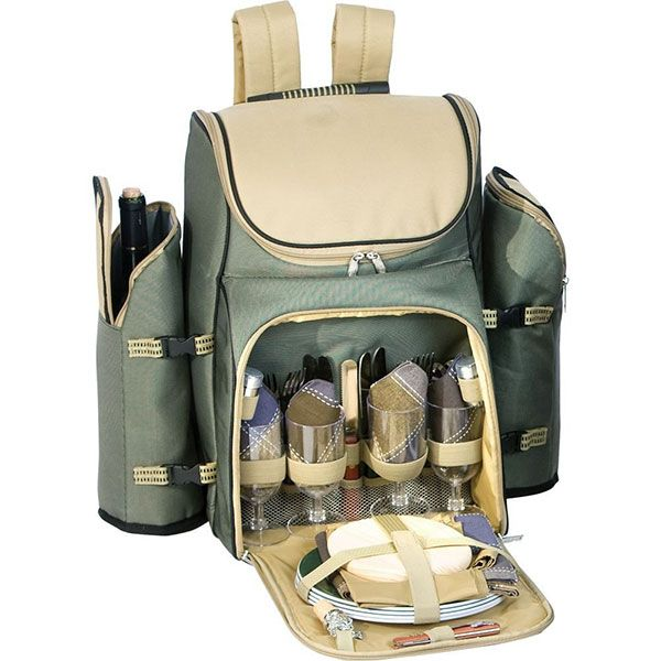 Roomy picnic backpack - great for hikes, lake days, & outdoor concerts. #Giveaway