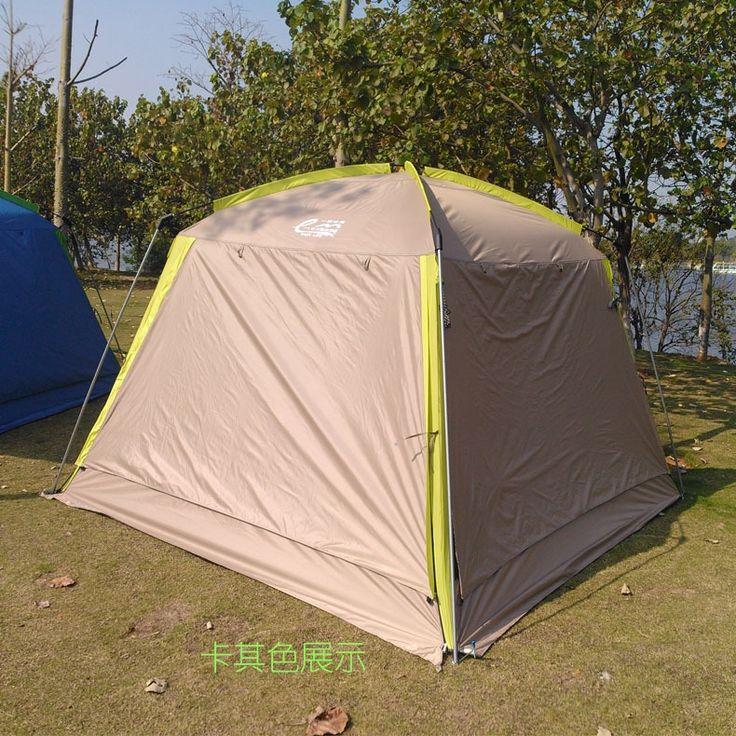 84.59$  Watch now - http://aliljk.worldwells.pw/go.php?t=32345134258 - 2016 new anti-mosquito outdoor UV big canopy beach pergola awning rain proof anti-wind camping family sunshade tent 84.59$