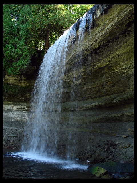 largest freshwater island in the world; Bridal Veil Falls, Manitoulin Island, Ontario