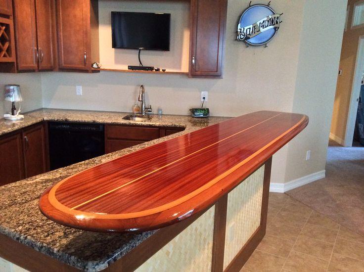 114 best tiki bar images on pinterest bar ideas beach for Surfboard bar top ideas