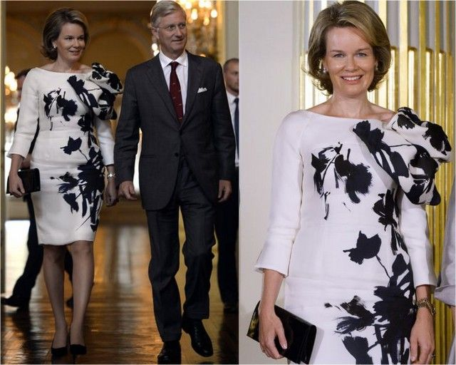 MyRoyals:  Queen Mathilde and King Philippe attended the 2015 Prijs der Nederlandse Letteren Award Ceremony, Palais de Bruxelles, October 8, 2015