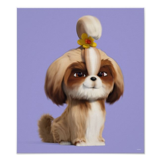Secret Life Of Pets Daisy Poster Zazzle Com In 2020 Secret Life Of Pets Pets Movie Daisy Dog