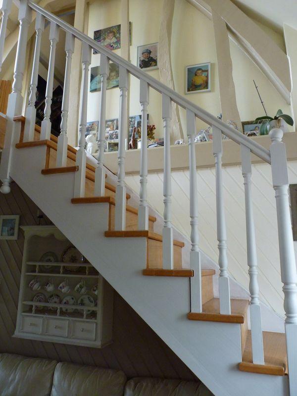 Escalier Bois Et Blanc : Escalier blanc et bois Inspiration maison Pinterest