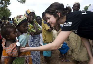 Between tour dates and filming schedules, Selena gives her time to several important causes, many of which are geared towards helping children. Just this past Valentine's Day, Selena held a contest where fans could create handmade Valentine's cards for a special prize, and all cards were distributed to patients at the Children's Hospital of Philadelphia