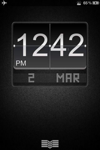 LS Black Big Flip Clock iPhone 4S theme iPhone, iPhone 3G, iPhone 3G S, iPhone 4G, iPhone 4, iPhone 5,  iPhone 4s,iPhone 5c, iPhone 5s, iPhone 4 CDMA , iPod Touch 4.