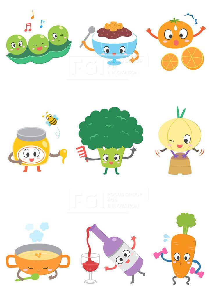 SILL188, 푸드캐릭터, 캐릭터, 푸드, 음식, 요리, 벡터, 에프지아이, 스티커, 완두콩, 팥빙수, 오렌지, 귤, 꿀, 벌, 허니…