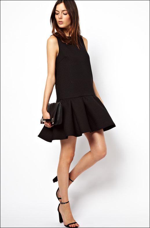 Black summer day dress