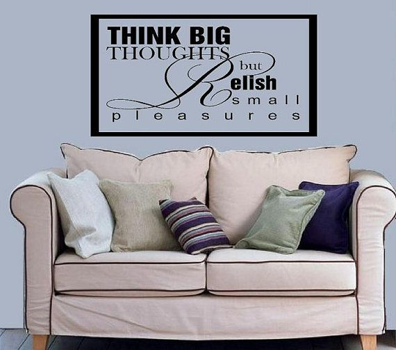 vinyl wall decal quote Think big thoughts por WallDecalsAndQuotes
