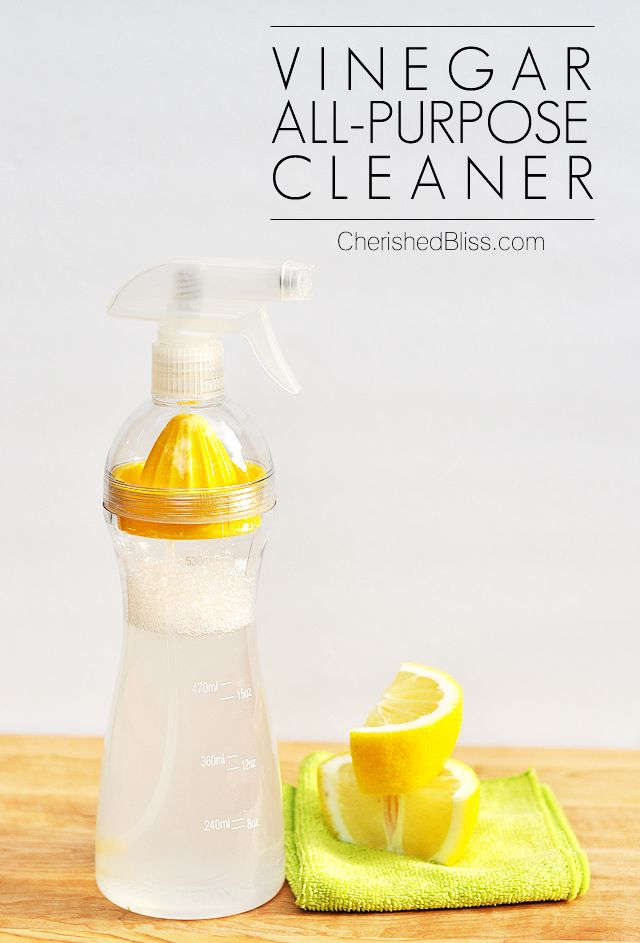 Looking for a safe alternative to cleaners? Try this Vinegar All Purpose Cleaner! It also works great on glass!