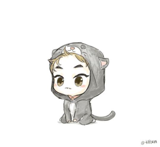 Cat Chibi Xiumin Fanart