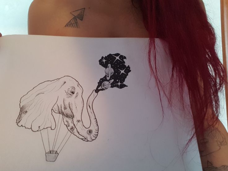 1 - Non tutto è come appare. Ve lo immaginate un elefante leggero? Possiamo sempre scegliere cosa vedere.  Disegno disponibile per stampa su tela, digitale e tatuaggio!