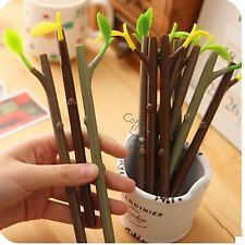 1 X Lovely Tree Ballpoint Pen Office School Supplies Writing Stationery 2 In 1
