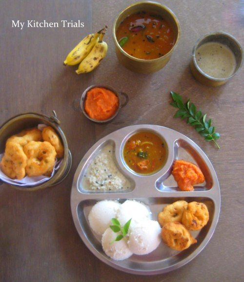 South Indian Breakfast – Idli Vada Sambar
