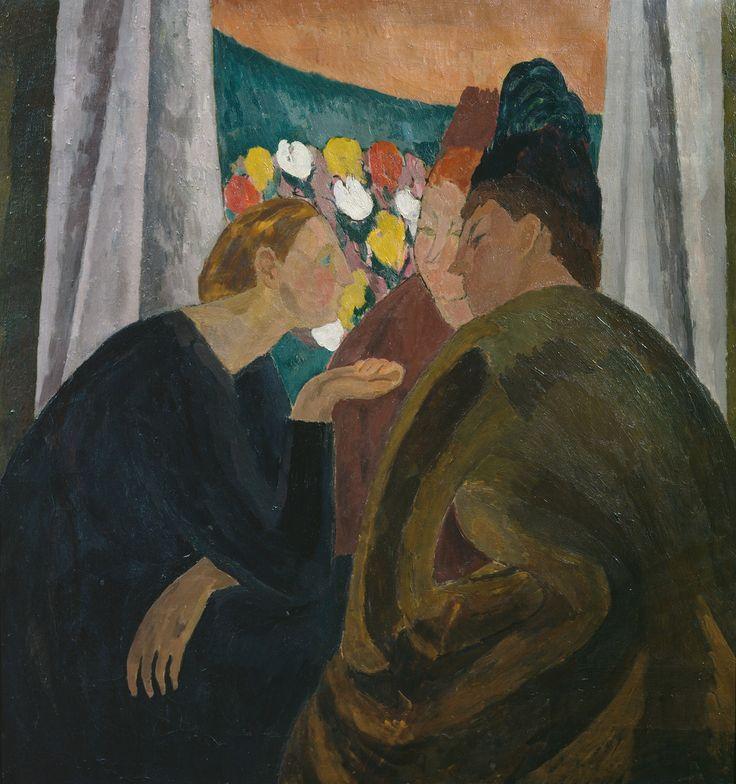 Vanessa Bell 1879–1961 Conversation 1913–16 Oil paint on canvas 866 x 810 mm