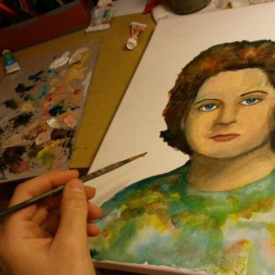 Portrait making - creating - art portrait woman