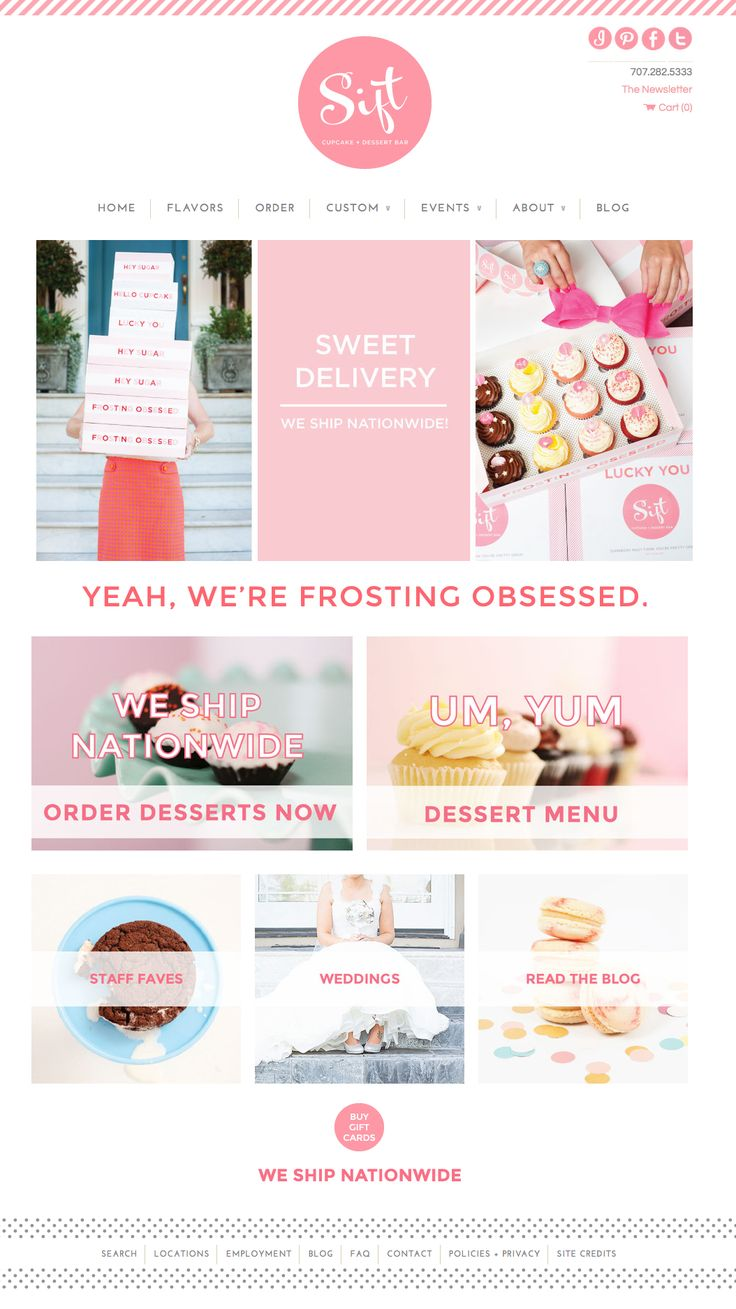 Deluxemodern for Sift Cupcake + Dessert Bar | Website Design