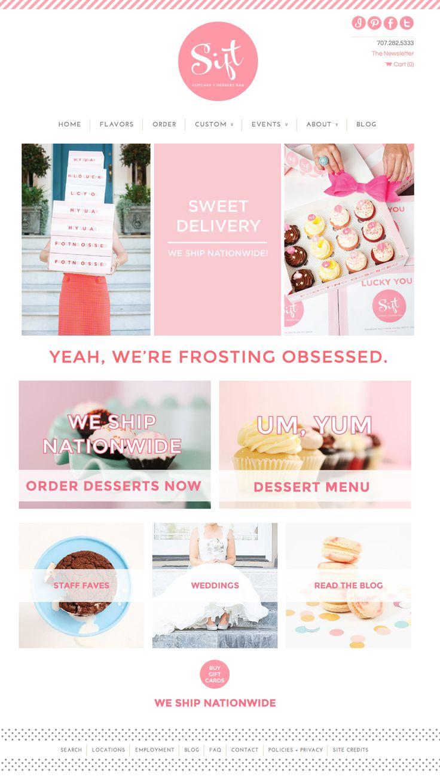 Deluxemodern for Sift Cupcake + Dessert Bar | Website Design