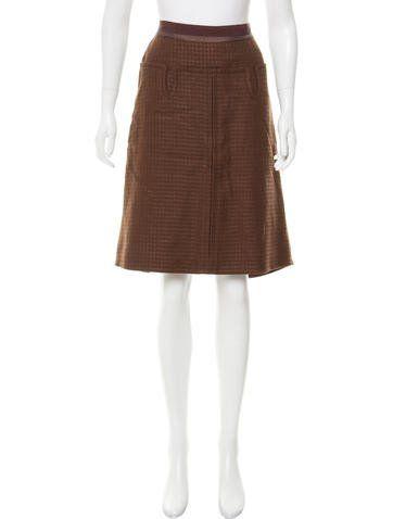 Louis Vuitton Linen & Wool-Blend Skirt