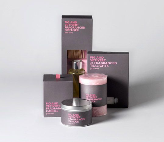 John Lewis Candles // Designed by Charlie Smith Design // Country: United Kingdom