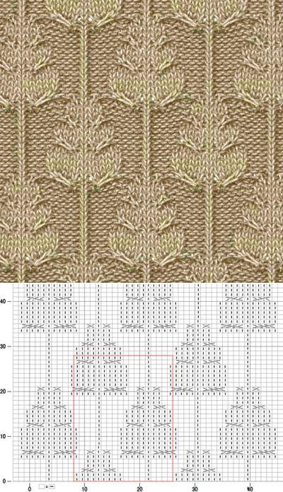 knit cross over pattern