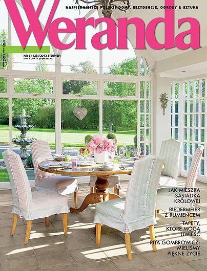 Okładka magazynu Weranda 8/2013 www.weranda.pl