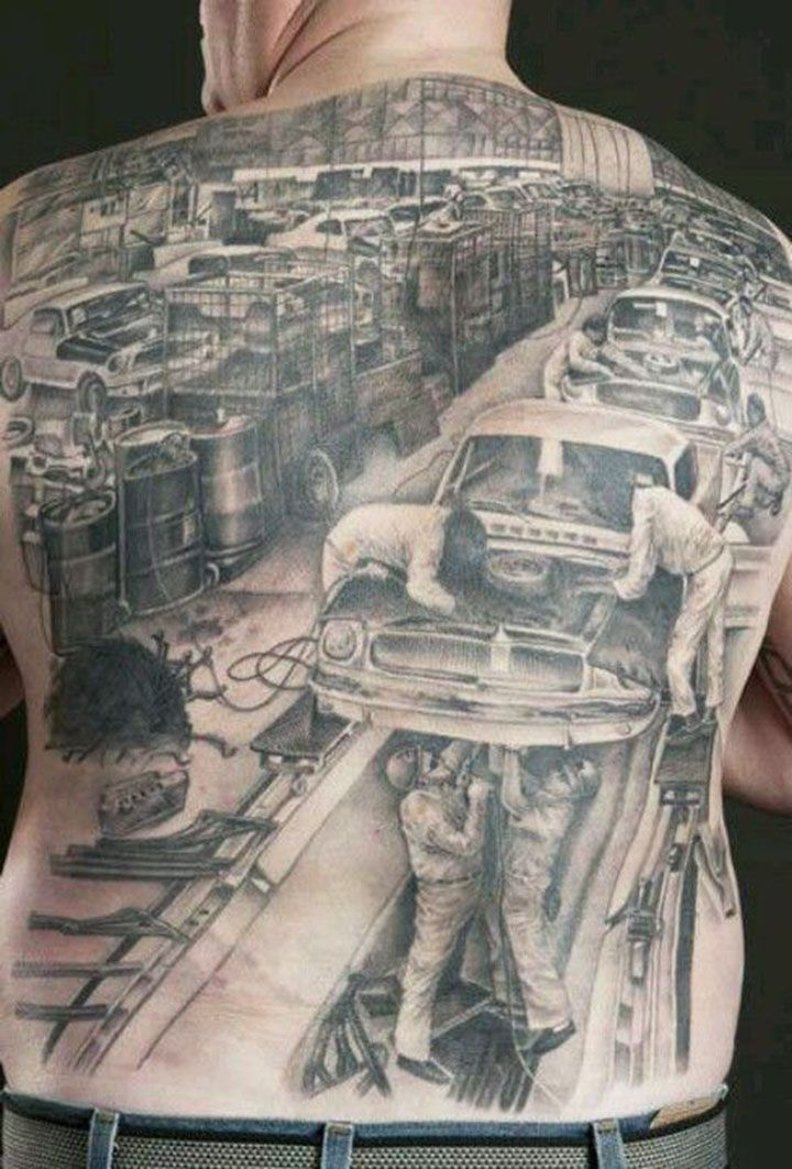 31 best images about automotive tattoos on pinterest for Detroit tattoo shops