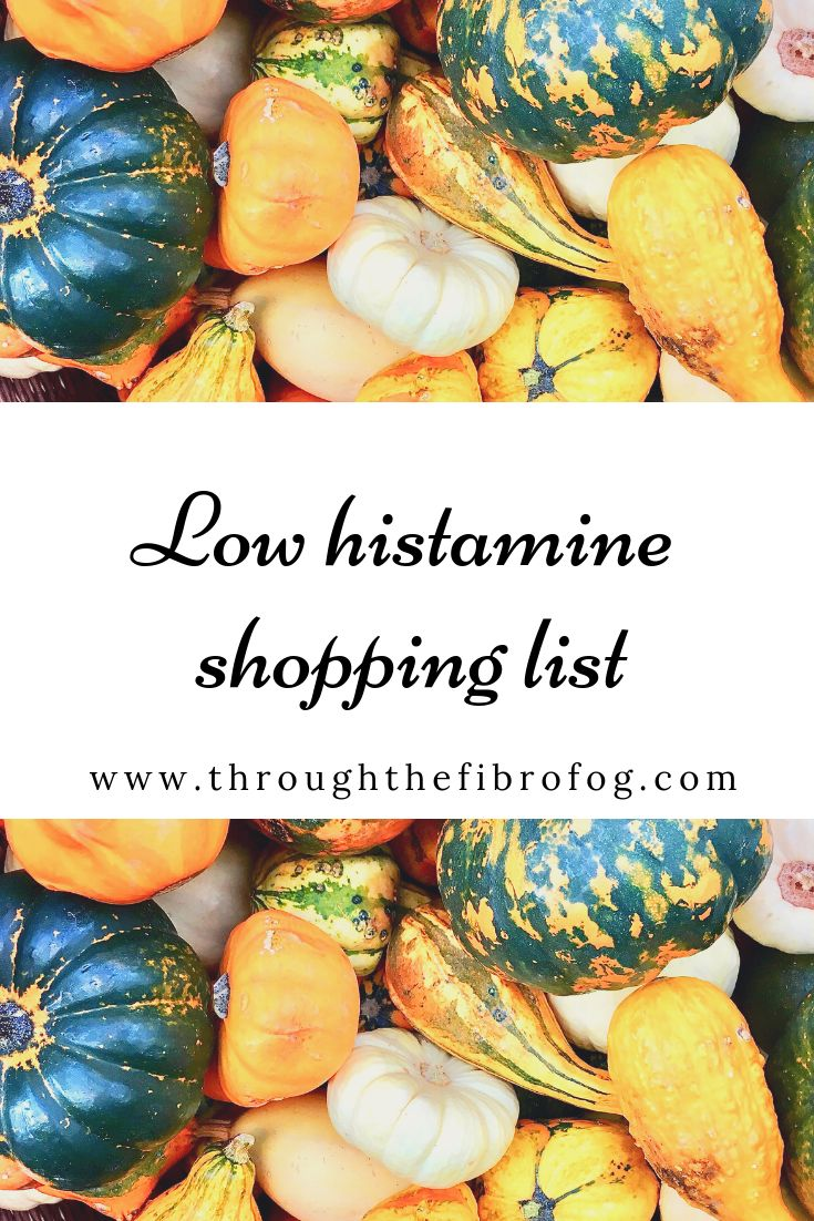 Low histamine foods shopping list food shopping list