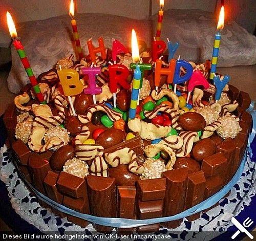 Candy Cake - ein amerikanischer Kuchen mit Süßigkeiten