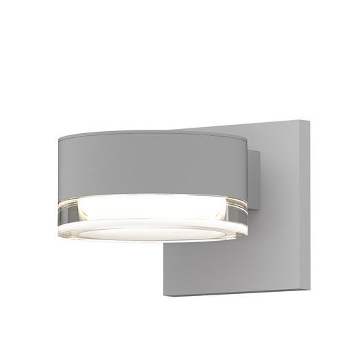 Inside-Out REALS Textured White LED Wall Sconce with Clear Lens