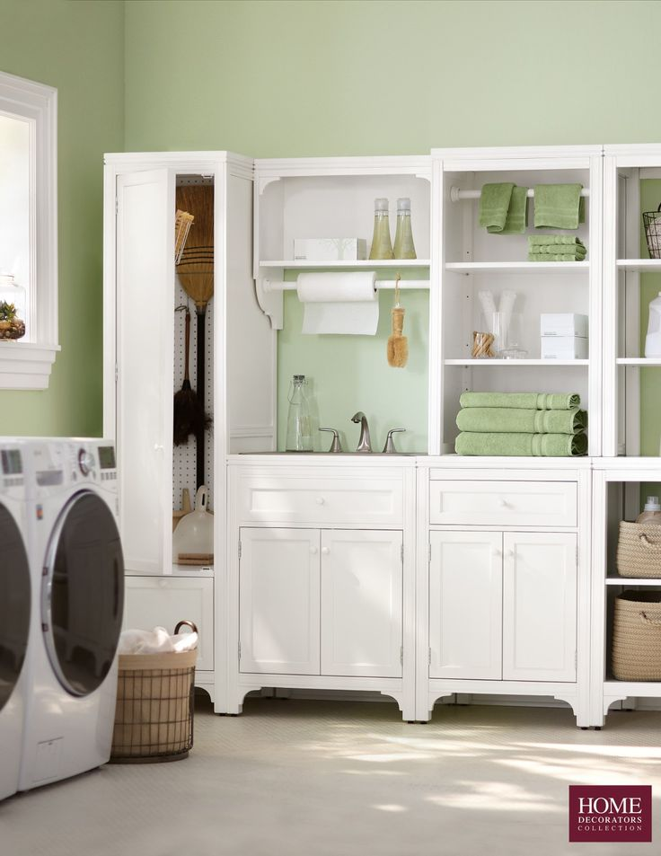 Laundry room organization at its finest. Our Martha Stewart Living™ Laundry Collection is full of pieces to make doing laundry less of a hassle. Customize to fit your laundry room space. Choose from an open hutch, cabinets, laundry cart and more. New year means new ways to get and stay organized. Start with making household duties a little more enjoyable. Available at Home Decorators Collection.