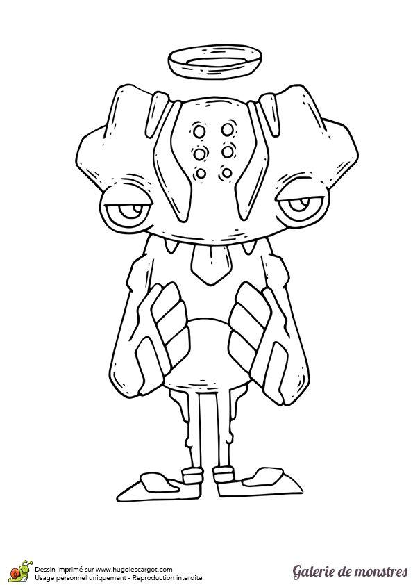 Un petit monstre ange d mon colorier coloriages et activit s pour halloween dessin - Coloriage petit scientifique ...