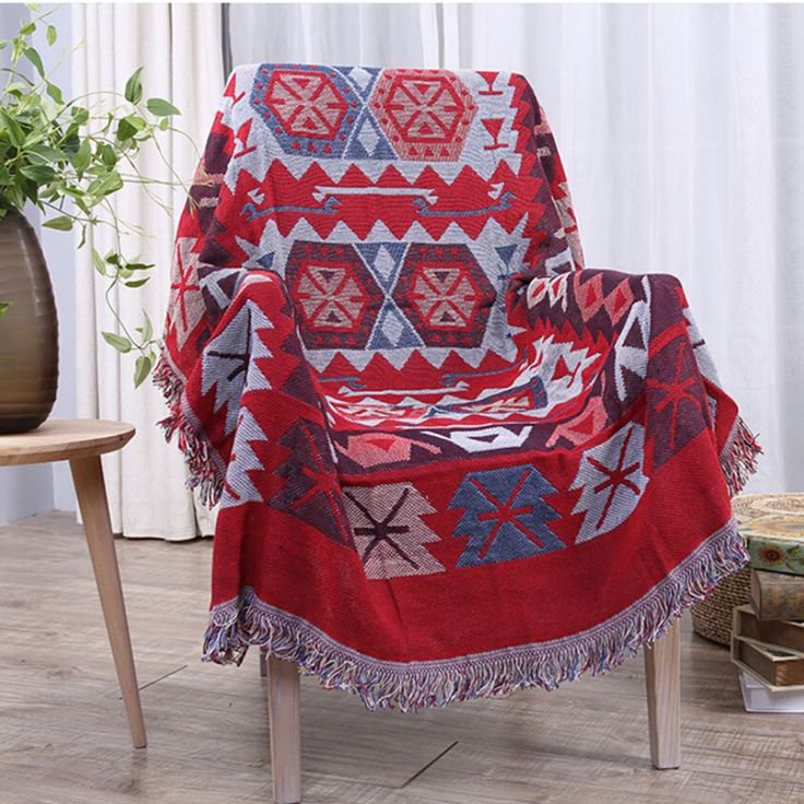 New Bohemian Chenille Plaids Soft Warm Blanket Sofa Decorative Throws Slipcover on Sofa Bed Plane Cobertor Blankets With Tassel #Affiliate