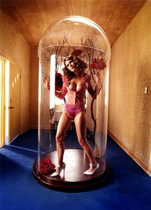 'Vamp in a Glass Diorama' ~ Kirsten Dunst by David LaChapelle