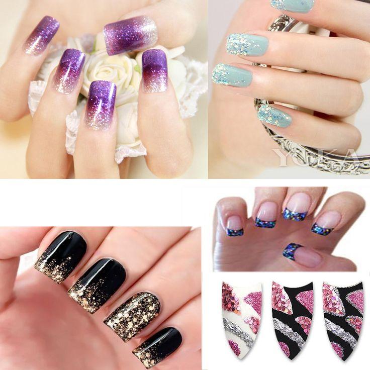 12 flessen/set DIY Nail Art Decoraties Voor Vrouwen Art Powder Dust Tip Rhinestone Manicure Gereedschap 12 Kleuren Shining Nail Glitter