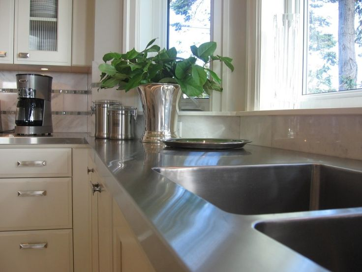 Decoration, Stainless Countertops Design: Glowing Silver In Your Kitchen: Stainless  Countertops
