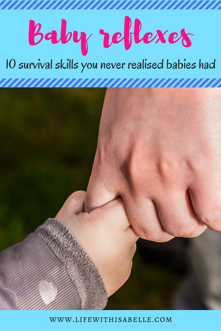 Baby reflexes you've probably never heard of - newborns don't actually have a lot of intentional, voluntary movement. And they depend on us for everything. Fortunately however, babies do come equipped with some inbuilt survival skills = reflexes. // Life With Isabelle