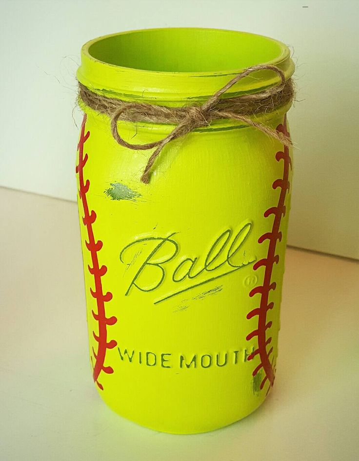 Softball Mason Jar - Softball Coach Gift - Softball Gifts - Softball Gift Ideas…