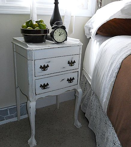 Shabby Sewing Cabinet Makeover - doing this technique to my Craigslist desk this weekend :)