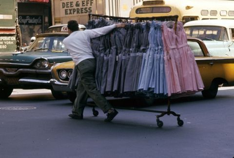 The Fashion District in the 1960s looks nothing like it does today.