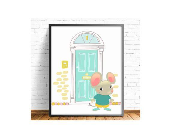 laminas infantiles,lamina raton perez,puerta raton perez,laminas animales,cuadros animales,animales infantiles,4 TAMAÑOS INCLUIDOS