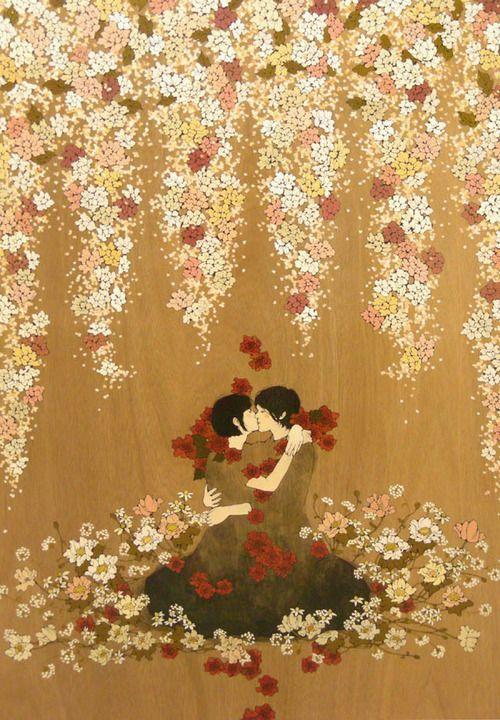 "Hata Eriko 秦絵里子 aka Qin Eriko - Solo Show - ""Submerged Flower"" - chiisana anata ni utau uta 小さなあなたにうたう詩 - 2009"