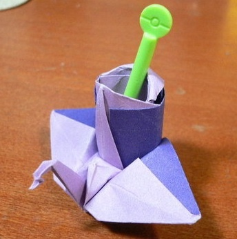 Animal - Origami Crane Pencil Holder