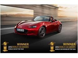 Which car won the World Car of the Year? Mazda MX-5