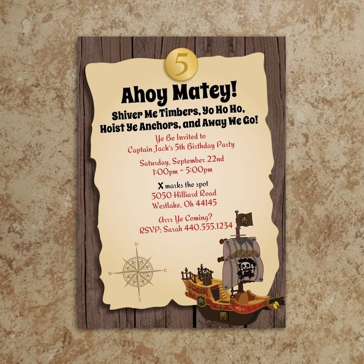 Make Pirate Party Invitations Homemade Birthday Invites - dinocro.info