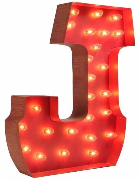 Lighted Carnival Letter J Alphabet lighting, Letter j