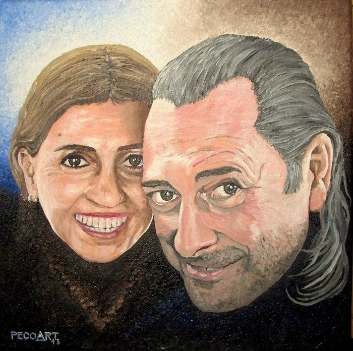 Dasha&Ivo by Peco Art ... Oil on canvas, 30x30cm ...