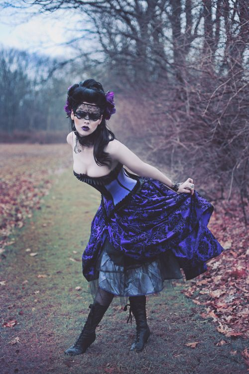 Wtchy: Goth Girls, Costumes, Gothic, Purple Dresses, Corsets, Lace Masks, Wedding Gowns, Steampunk, Masquerades