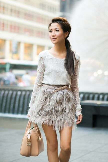 Feather Weather :: Lace tiered top & Delicate skirt - Wendys Lookbook
