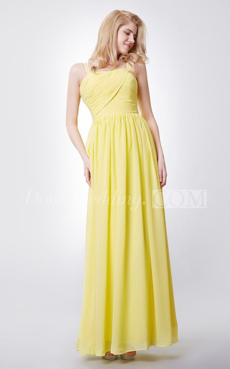 Be stylish in this work of art, floor-length fashionable long Bridesmaid dress. This excellent dress is a delicate chiffon, domain waist dress with a crosswise, ruched, sweetheart bodice. Fragile ribbon straps stream to your upper back securing with a snare and eye, Your back is unguarded with beguiling straps over the wide ruched waist. The assembled skirt on this long chiffon dress streams tenderly from the waist and surges delicately to the floor. #liong #orange #DorisWedding.com